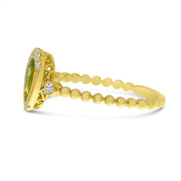 Peridot and Diamond Ring Image 2 Score's Jewelers Anderson, SC