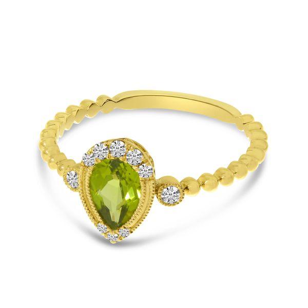 Peridot and Diamond Ring Image 3 Score's Jewelers Anderson, SC