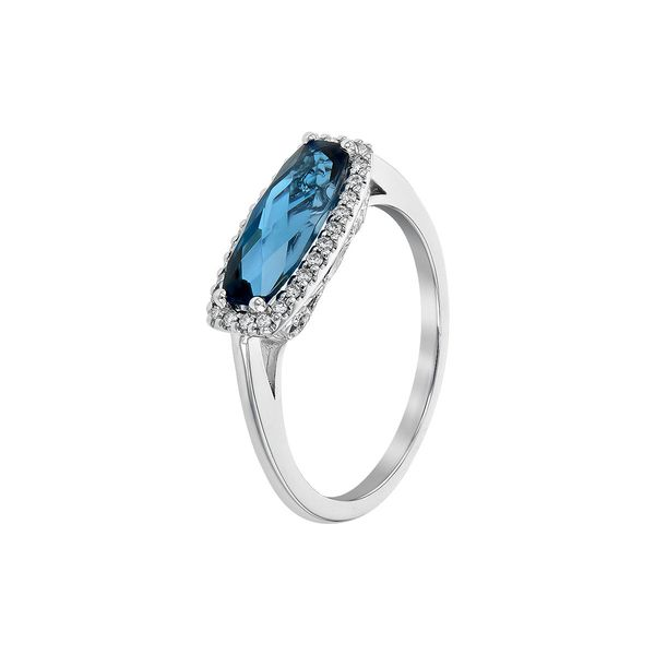 Blue Topaz and Diamond Ring Image 2 Score's Jewelers Anderson, SC
