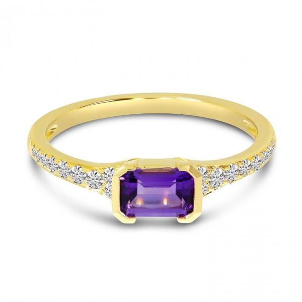 Amethyst and Diamond Ring Score's Jewelers Anderson, SC