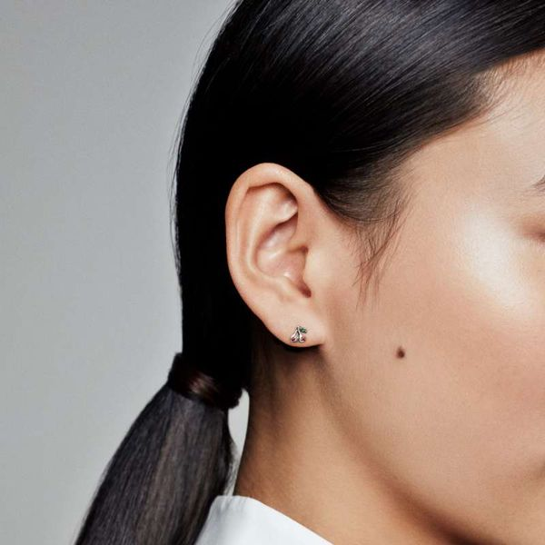 Pandora My Cherry Single Stud Earring Image 2 SVS Fine Jewelry Oceanside, NY