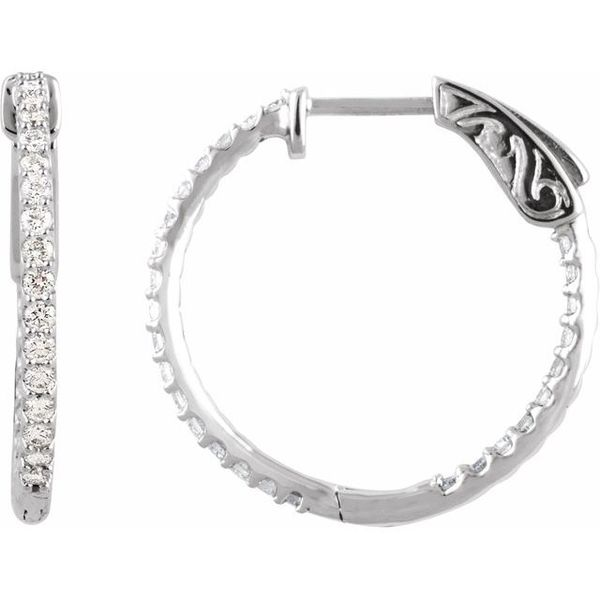 3/4 CTW Diamond Hoops The Hills Jewelry LLC Worthington, OH