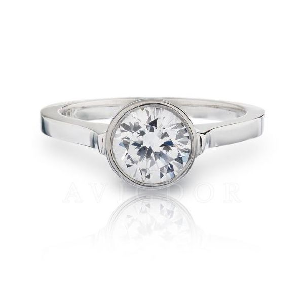 14k WG Round Bezel Set Solitaire Engagement Ring The Ring Austin Round Rock, TX