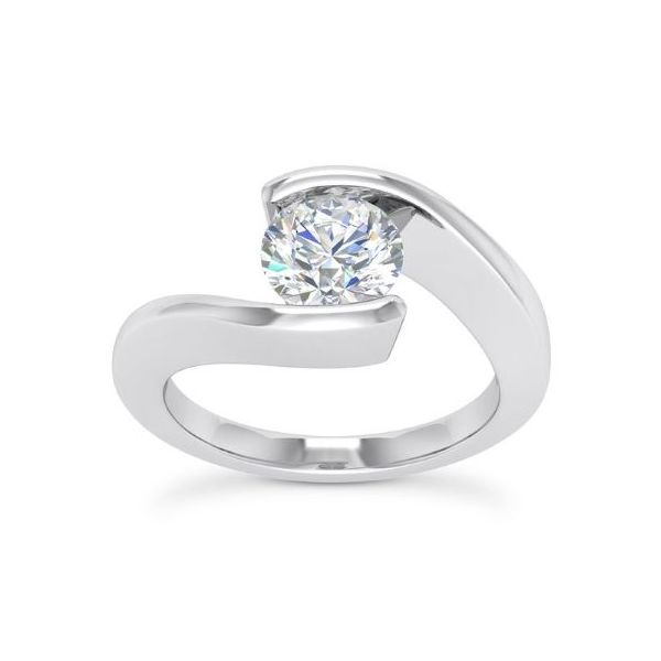 14k WG Twisted Shank Diamond Engagement Ring The Ring Austin Round Rock, TX
