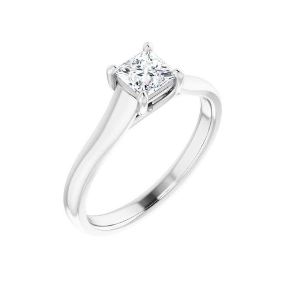14k WG Solitaire for 6X6 Square Stone The Ring Austin Round Rock, TX