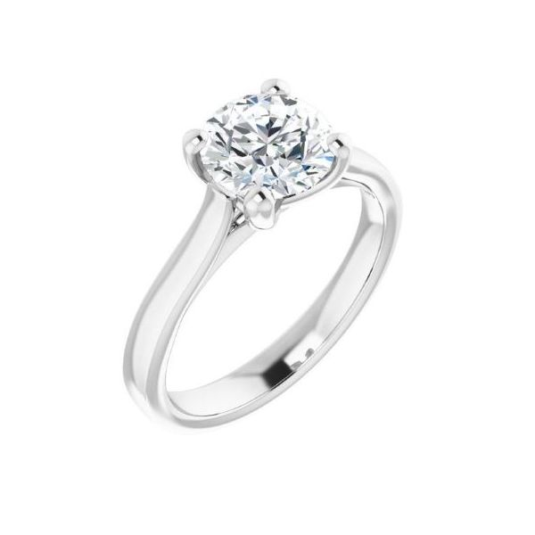 14k WG Solitaire Engagement Ring The Ring Austin Round Rock, TX