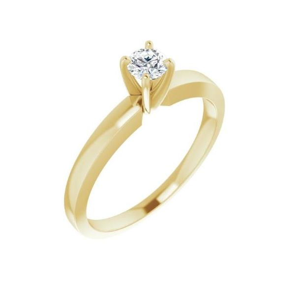 14k YG Diamond Solitare Engagement Ring The Ring Austin Round Rock, TX
