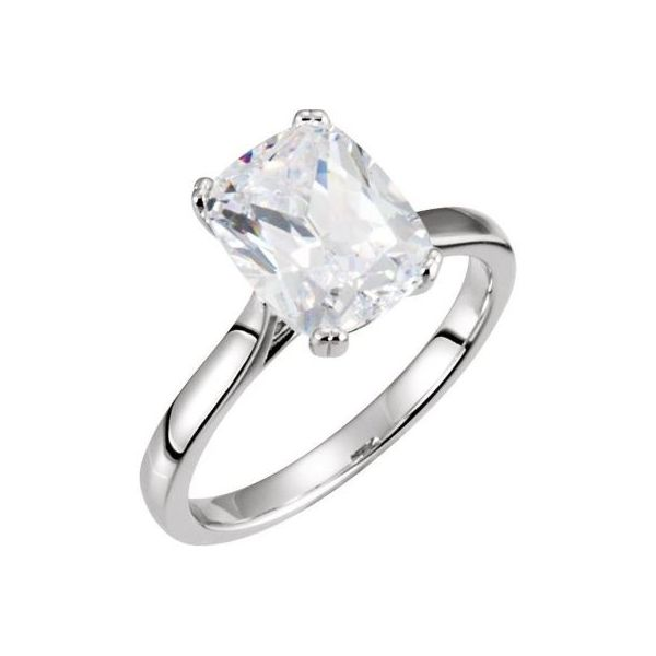 14k WG Cushion Solitaire Engagement Ring The Ring Austin Round Rock, TX
