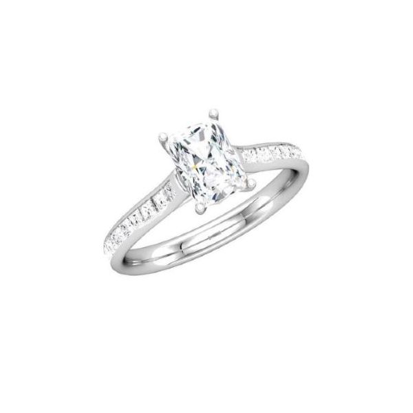 14k WG Channel Set Engagement Ring The Ring Austin Round Rock, TX