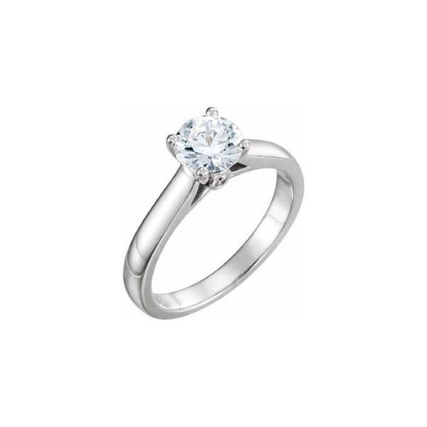 14k WG Peekaboo Solitaire Engagement Ring The Ring Austin Round Rock, TX