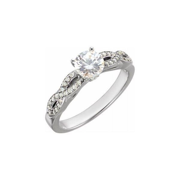14k WG Diamond Twist Engagement Ring The Ring Austin Round Rock, TX