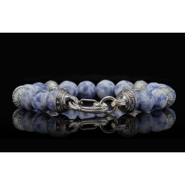 Pacific Ocean Sodalite Bead Men's Bracelet Image 4 Toner Jewelers Overland Park, KS