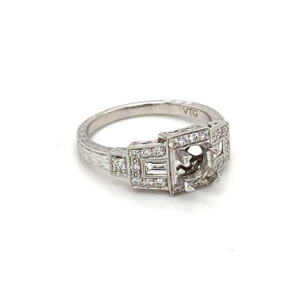 Geometric Diamond Engagement Ring Setting Image 3 Toner Jewelers Overland Park, KS