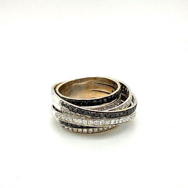 Lady's Estate Black and White Diamond Ring Image 2 Toner Jewelers Overland Park, KS