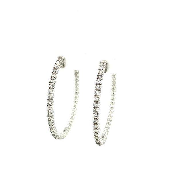 Diamond Hoops Image 2 Toner Jewelers Overland Park, KS
