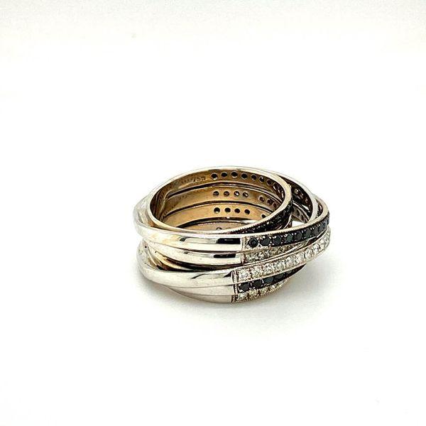 Lady's Estate Black and White Diamond Ring Image 3 Toner Jewelers Overland Park, KS