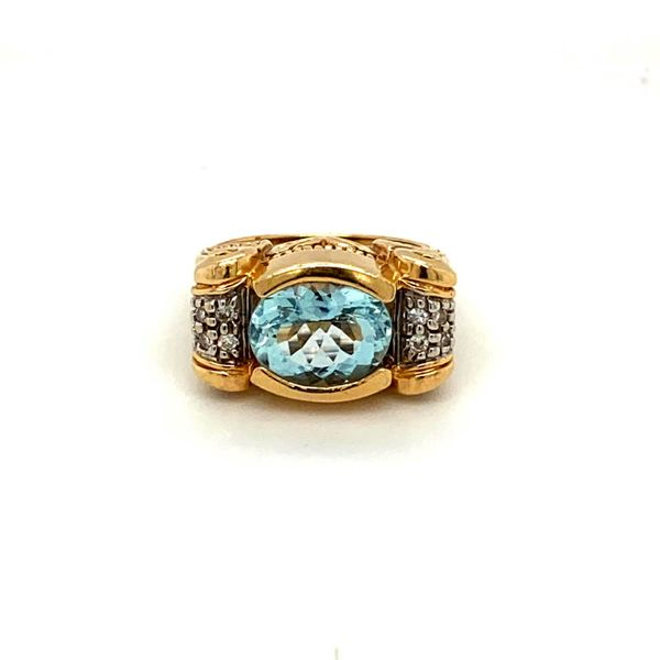 Estate Hand-Carved Aquamarine Ring Image 2 Toner Jewelers Overland Park, KS
