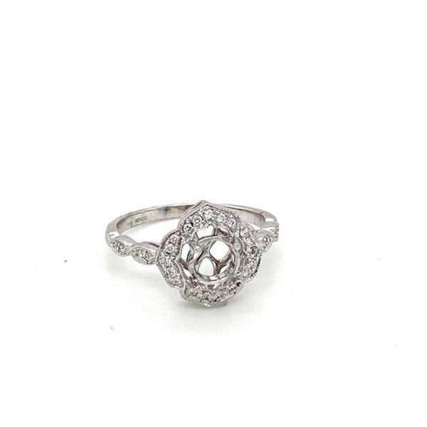 Milgrain Vintage Engagement Ring Setting Image 2 Toner Jewelers Overland Park, KS