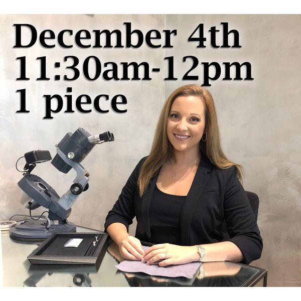 Appraisal Pre-Pay 11:30am Toner Jewelers Overland Park, KS
