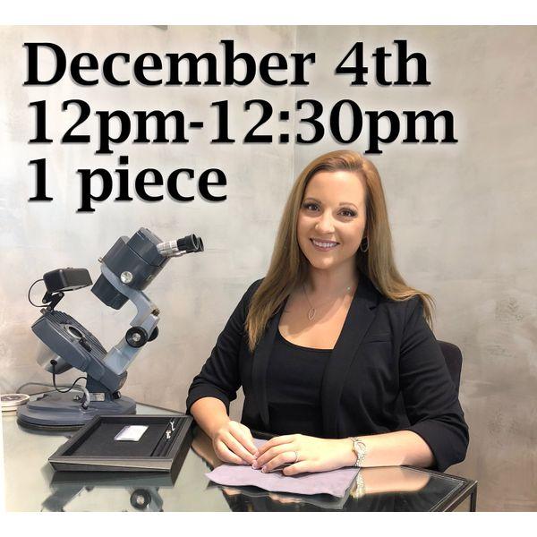 Appraisal Pre-Pay 12:00pm Toner Jewelers Overland Park, KS