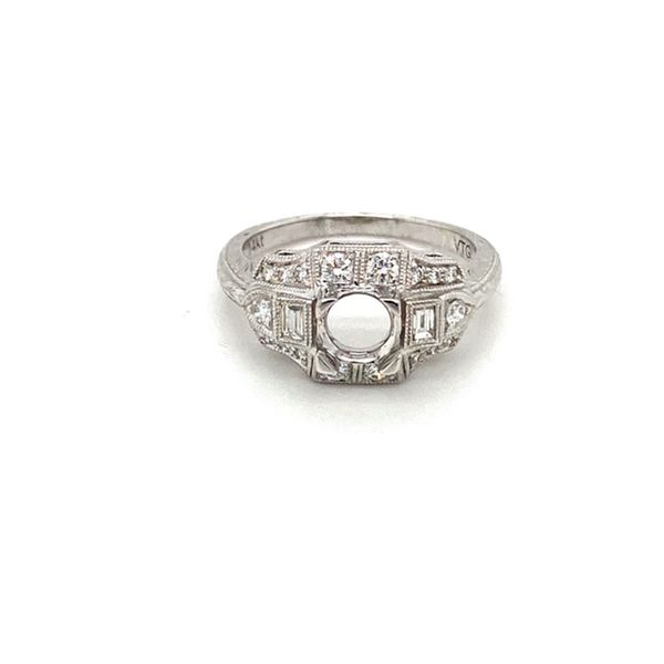 14K White Gold Diamond Engagement Ring Toner Jewelers Overland Park, KS