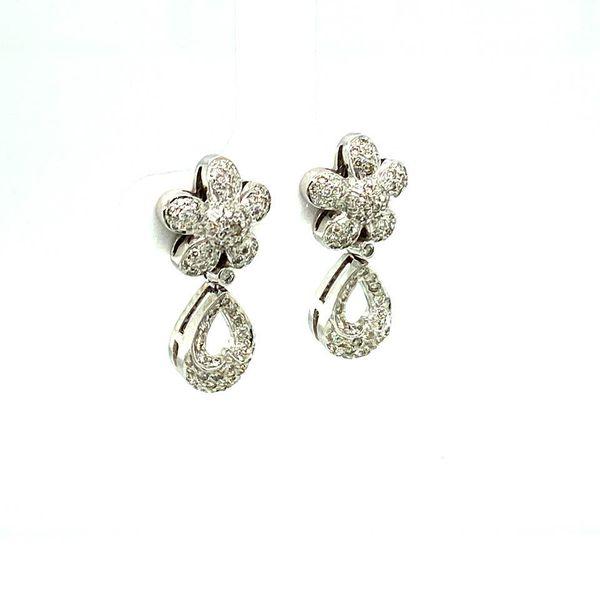 Lady's Estate Diamond Earrings Image 2 Toner Jewelers Overland Park, KS