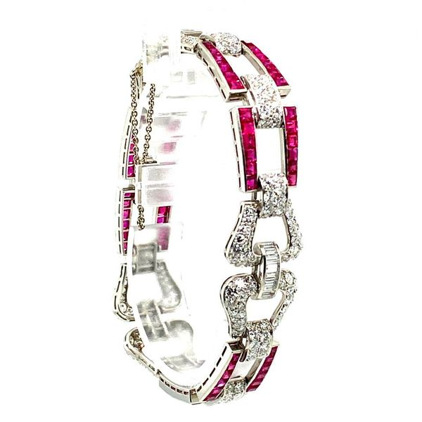 Lady's Antique Diamond and Ruby Necklace Image 2 Toner Jewelers Overland Park, KS