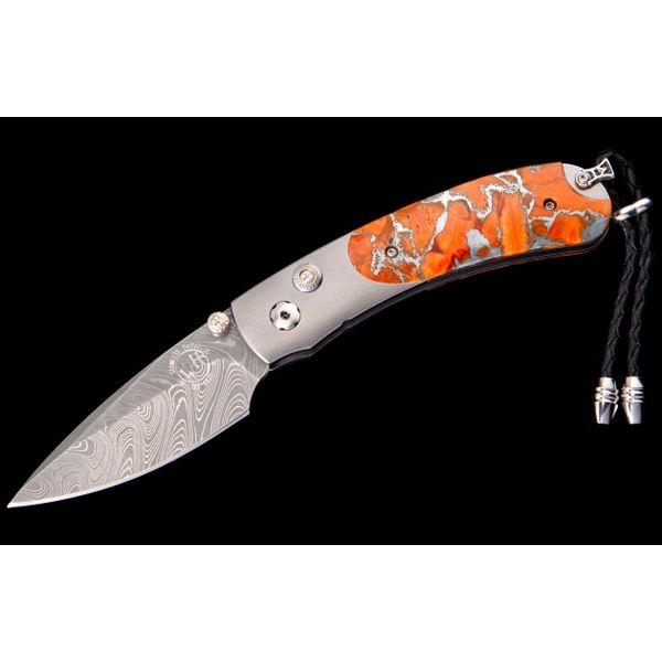 Apple Coral Pocket Knife with White Topaz Toner Jewelers Overland Park, KS
