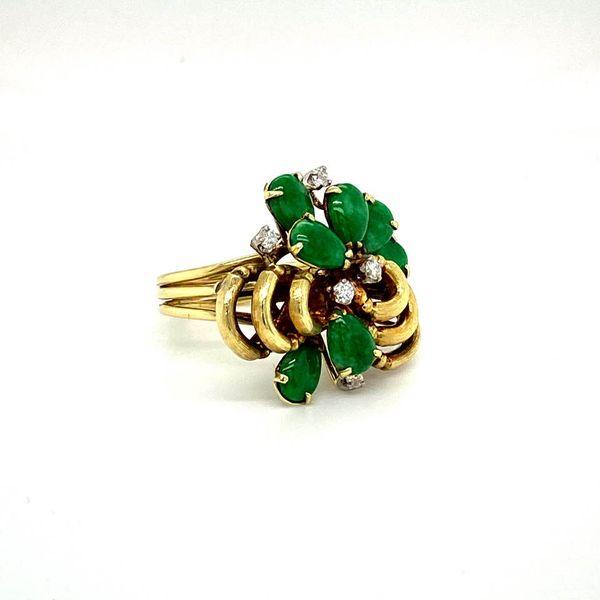 Lady's Estate Jade and Diamond Ring Image 2 Toner Jewelers Overland Park, KS