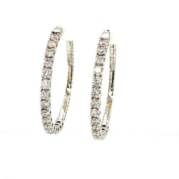 4cttw Diamond Inside-Outside Hoops Image 5 Toner Jewelers Overland Park, KS