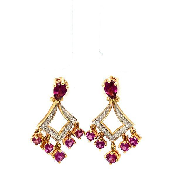 Estate Garnet Earrings Toner Jewelers Overland Park, KS