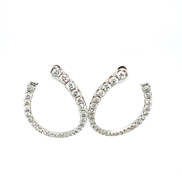 Diamond Side Hoop Earrings Toner Jewelers Overland Park, KS