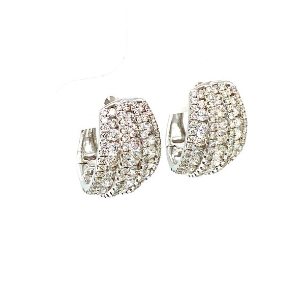 Diamond Huggie Earrings Image 2 Toner Jewelers Overland Park, KS