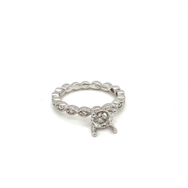 Vintage Inspired Diamond Engagement Ring Setting Image 2 Toner Jewelers Overland Park, KS