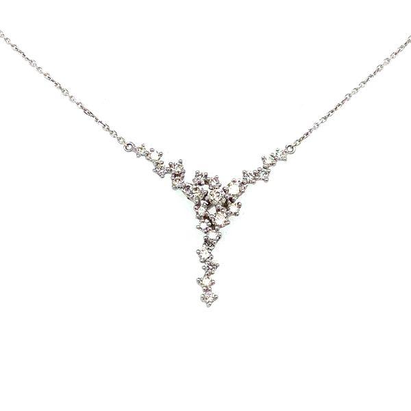 Diamond Scatter Necklace Toner Jewelers Overland Park, KS