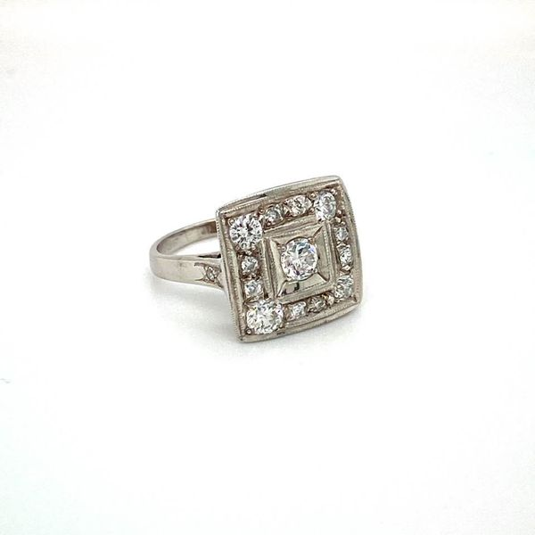 Estate Diamond Square Ring Image 2 Toner Jewelers Overland Park, KS