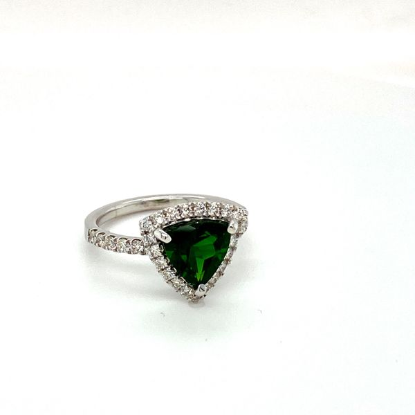 Chrome Diopside and Diamond Ring Image 2 Toner Jewelers Overland Park, KS