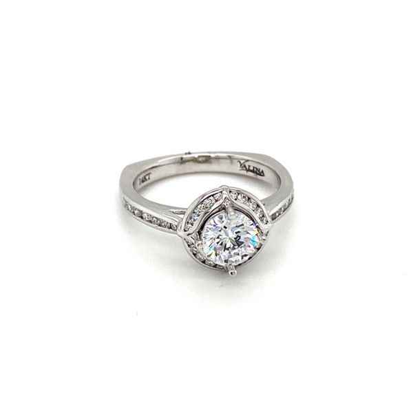 14K White Gold Diamond Engagement Ring Setting Image 2 Toner Jewelers Overland Park, KS