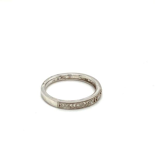Diamond Wedding Band with Filigree and Milgrain Image 3 Toner Jewelers Overland Park, KS