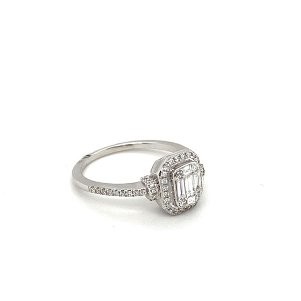 Mosaic Style Engagement Ring  Image 3 Toner Jewelers Overland Park, KS