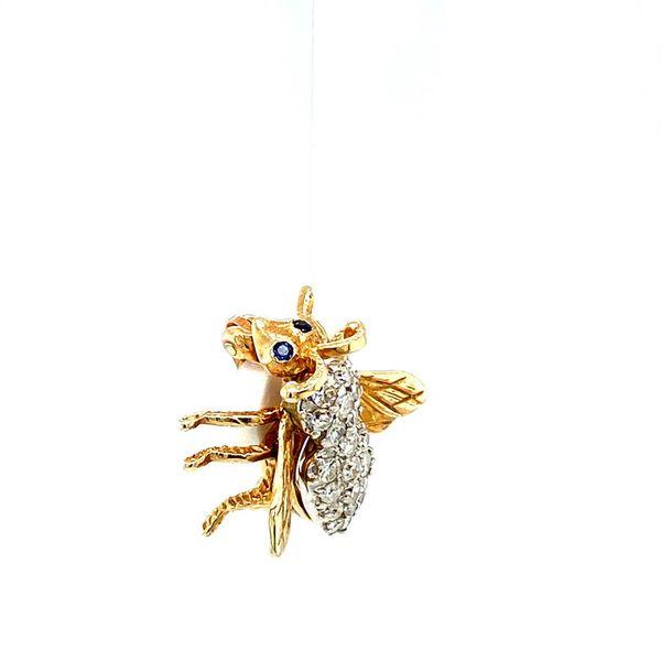 Estate Diamond Bee Brooch Image 3 Toner Jewelers Overland Park, KS