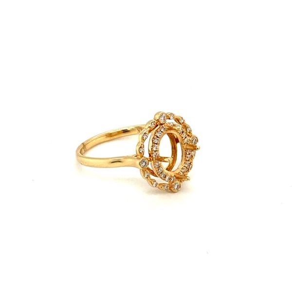 Diamond Engagement Ring Setting with Vintage Halo Image 3 Toner Jewelers Overland Park, KS