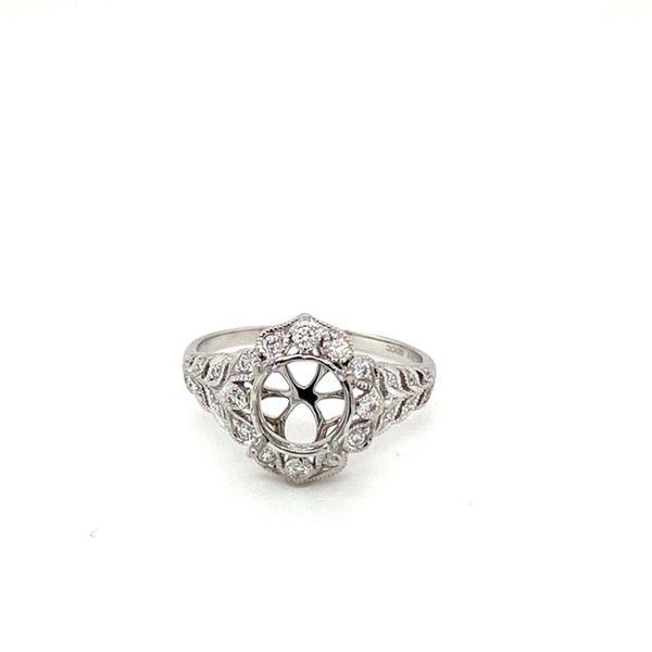 Floral Halo Diamond Engagement Ring Setting Toner Jewelers Overland Park, KS