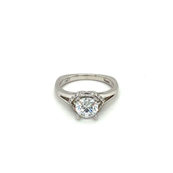 White Gold Diamond Engagement Ring Setting Toner Jewelers Overland Park, KS
