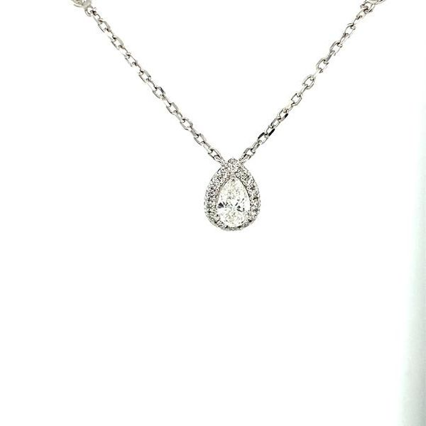 Pear Diamond Necklace Image 2 Toner Jewelers Overland Park, KS