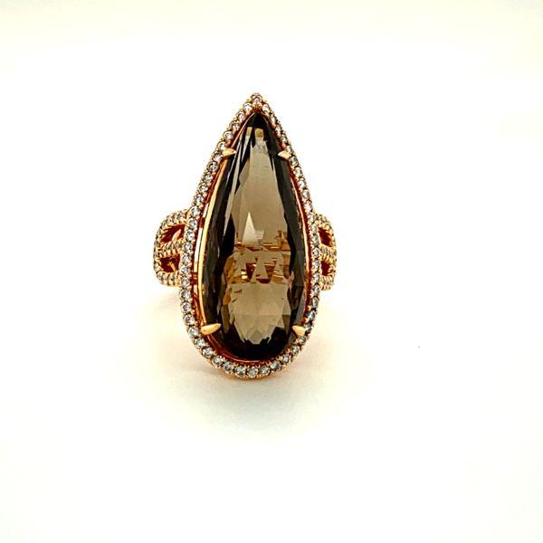 Estate Rose Gold Ring with Smokey Quartz Toner Jewelers Overland Park, KS