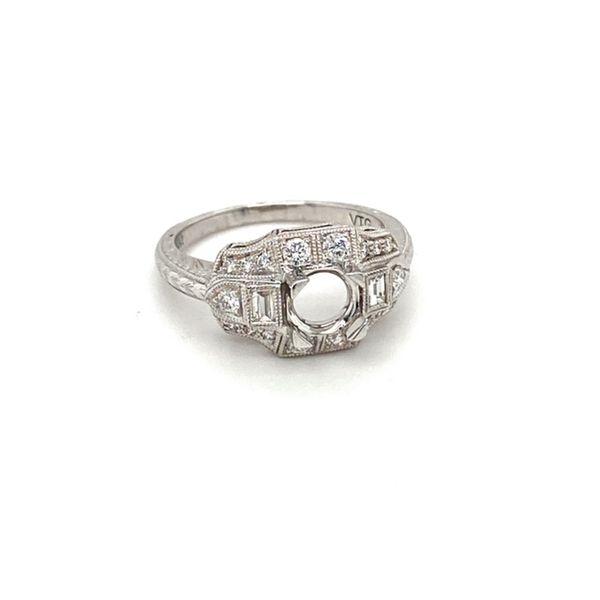 14K White Gold Diamond Engagement Ring Image 2 Toner Jewelers Overland Park, KS