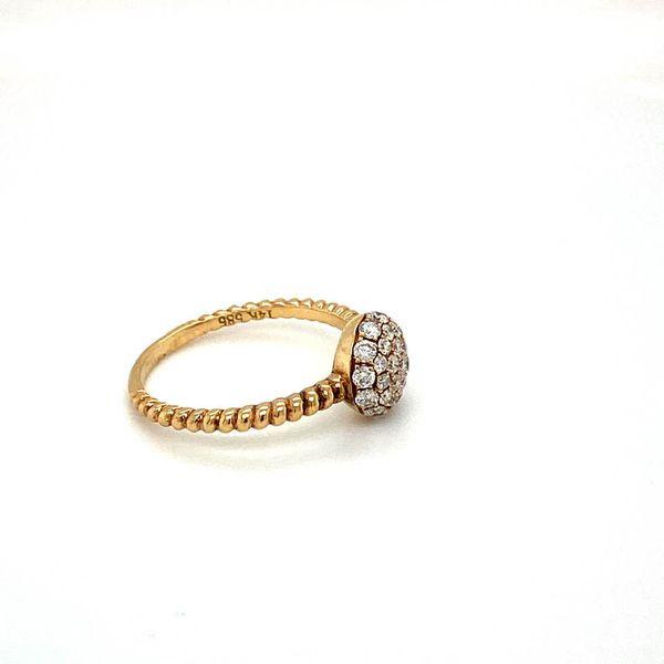 Estate Diamond Pave Ring Image 3 Toner Jewelers Overland Park, KS