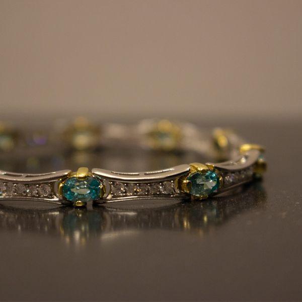 Paribia Tourmaline & Diamond Bracelet Toner Jewelers Overland Park, KS