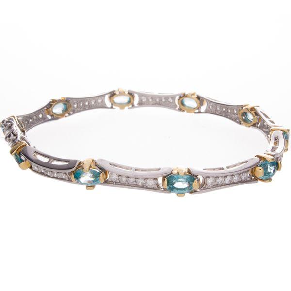 Paribia Tourmaline & Diamond Bracelet Image 2 Toner Jewelers Overland Park, KS